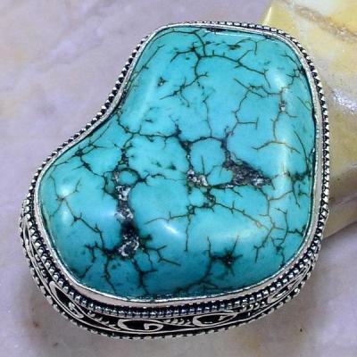 Tqa 113a bague t57 turquoise bleue ethnique tibet nepal achat vente bijou argent 925