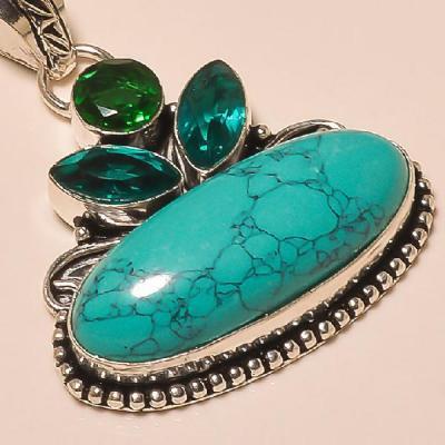 Tqa 118c pendentif turquoise pendant achat vente bijoux argent 925