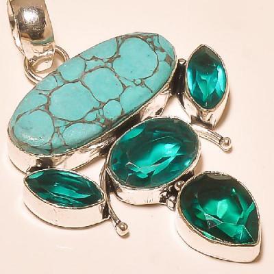 Tqa 120c pendentif turquoise pendant achat vente bijoux argent 925