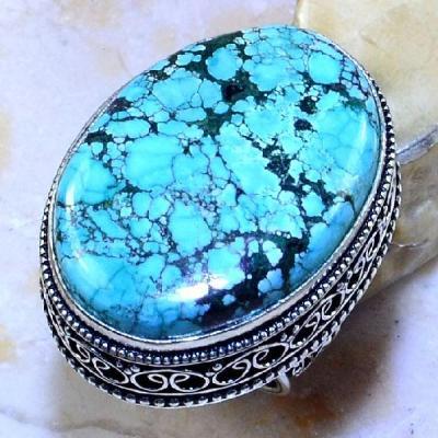 Tqa 123a bague t55 turquoise bleue ethnique tibet nepal achat vente bijou argent 925