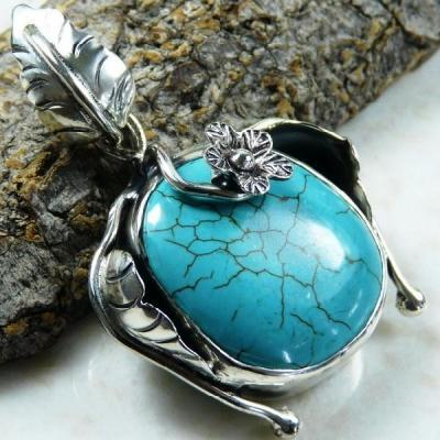 Tqa 130a pendentif pendant en turquoise bleue argent 925 achat vente bijoux ethniques