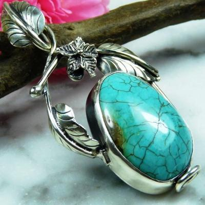 Tqa 133a pendentif pendant en turquoise bleue argent 925 achat vente bijoux ethniques