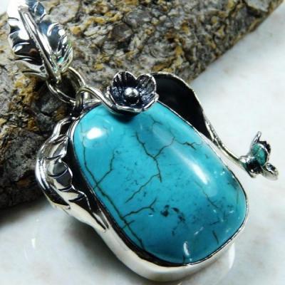 Tqa 138a pendentif pendant en turquoise bleue argent 925 achat vente bijoux ethniques