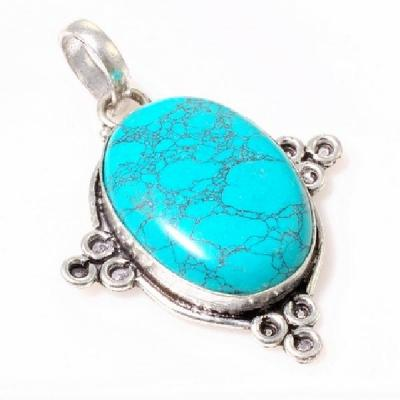 Tqa 139a pendentif pendant en turquoise bleue argent 925 achat vente bijoux ethniques