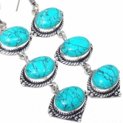 Tqa 146c boucles oreilles turquoise achat vente bijou argent 925 1
