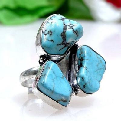 Tqa 147a bague chevaliere t55 turquoise achat vente bijou argent 925