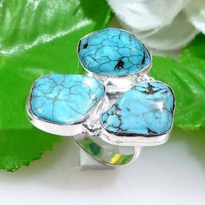 Tqa 149a bague chevaliere t61 turquoise achat vente bijou argent 925