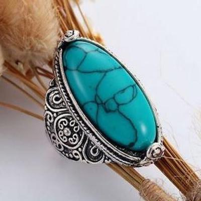 Tqa 150a bague chevaliere t63 turquoise achat vente bijou argent 925