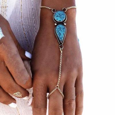 Tqa 153a bracelet chainette turquoise achat vente bijou argent 925