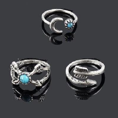 Tqa 155a lot 3 bague chevaliere turquoise achat vente bijou argent 926
