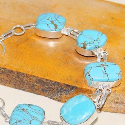 Tqa 157b bracelet chainette turquoise achat vente bijou argent 925