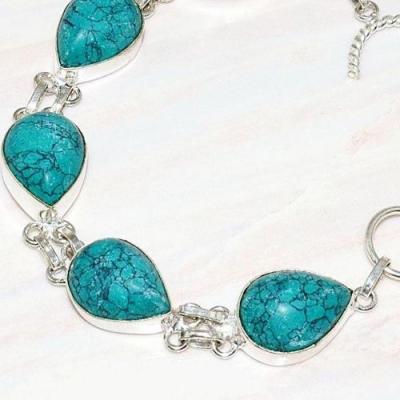 Tqa 211b bracelet turquoise synthetique tibet oriental achat vente bijou argent 925