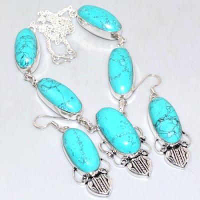 Tqa 220a collier boucles oreilles turquoise parure achat vente bijou argent 925