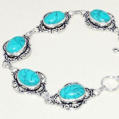 Tqa 235b bracelet turquoise lapis 20gr 15x10mm tibet oriental achat vente bijou argent 925