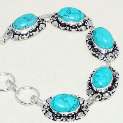 Tqa 239b bracelet turquoise lapis 20gr 15x10mm tibet oriental achat vente bijou argent 925