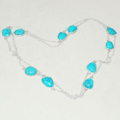 Tqa 252a collier parure sautoir turquoise 13gr tibet achat vente bijou argent 925