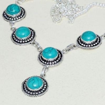 Tqa 257b collier parure sautoir turquoise 27gr tibet achat vente bijou argent 925