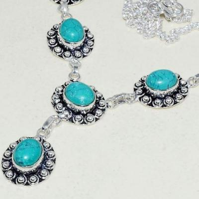 Tqa 258b collier parure sautoir turquoise 30gr tibet achat vente bijou argent 925