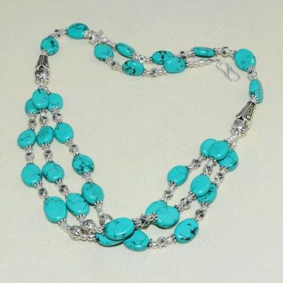 Tqa 262a collier parure sautoir turquoise 36gr tibet achat vente bijou argent 925