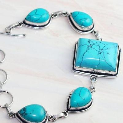Tqa 269c bracelet 21gr turquoise howlite 15x20mm achat vente bijou ethnique argent 925
