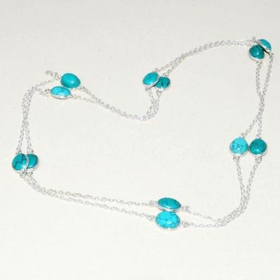 Tqa 277a collier parure sautoir turquoise 10gr tibet achat vente bijou argent 925