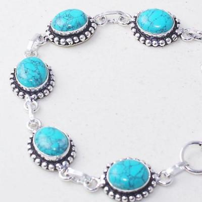 Tqa 278b bracelet 21gr turquoise howlite 8x12mm achat vente bijou ethnique argent 925