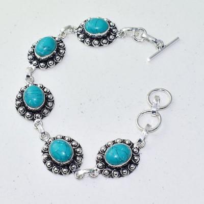Tqa 279a bracelet 22gr turquoise howlite 8x12mm achat vente bijou ethnique argent 925