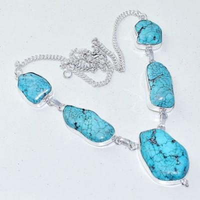 Tqa 282a collier parure sautoir turquoise 33gr tibet achat vente bijou argent 925