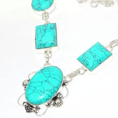Tqa 283b collier parure sautoir turquoise 33gr tibet achat vente bijou argent 925