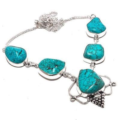 Tqa 288a collier parure sautoir turquoise 30gr tibet achat vente bijou argent 925