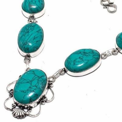 Tqa 289b collier parure sautoir turquoise 30gr tibet achat vente bijou argent 925