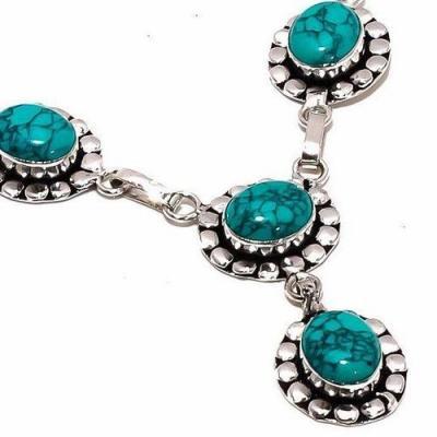 Tqa 291c collier parure sautoir turquoise 18gr tibet achat vente bijou argent 925