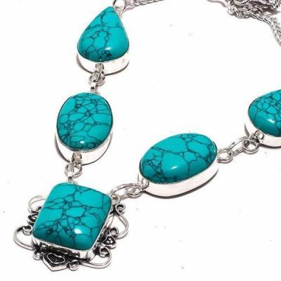 Tqa 292b collier parure sautoir turquoise 30gr tibet achat vente bijou argent 925