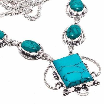 Tqa 293b collier parure sautoir turquoise 26gr tibet achat vente bijou argent 925