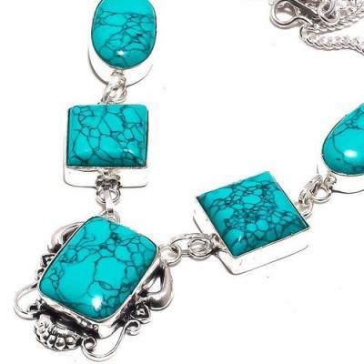 Tqa 296b collier parure sautoir turquoise 30gr tibet achat vente bijou argent 925