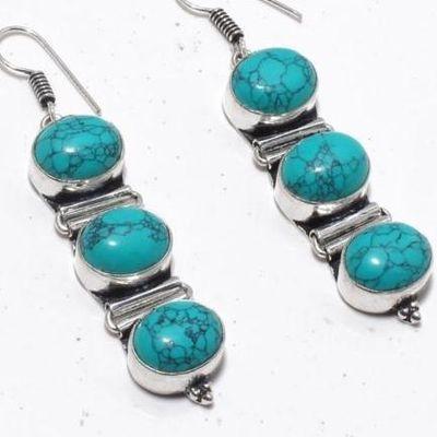 Tqa 329c boucles oreilles 15gr turquoise topaze bleue 10x12mm achat vente bijou argent 925