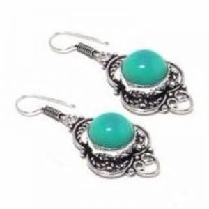 Tqa 337b boucles pendants oreilles 50mm 10gr turquoise 15mm achat vente bijou argent 925
