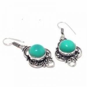 Tqa 337c boucles pendants oreilles 50mm 10gr turquoise 15mm achat vente bijou argent 925