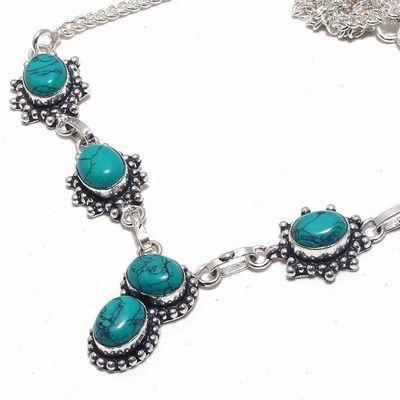 Tqa 338b collier sautoir parure pendant 22gr turquoise 8x12mm achat vente bijou argent 925