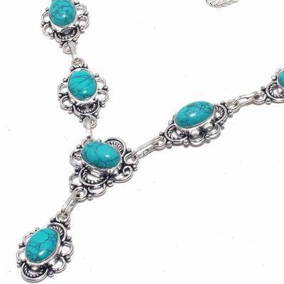 Tqa 342b collier sautoir parure pendant 30gr turquoise 10x15mm achat vente bijou argent 925