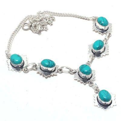 Tqa 363a collier parure sautoir turquoise 8x10mm 18gr achat vente bijou argent 925