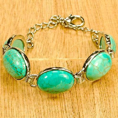 Tqa 378a bracelet 24gr turquoise achat vente bijou pierre naturelle argent 925