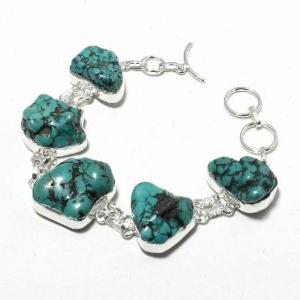 Tqa 416a bracelet 27gr turquoise howlite 15x20mm achat vente bijou ethnique argent 925 1