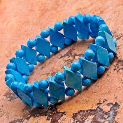 Tqa 743a bracelet turquoise 36gr egyptien ethnique 1