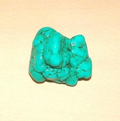 Tqp 008a turquoise brute 60gr 50x45x35mm polie bleue lithotherapie reiki