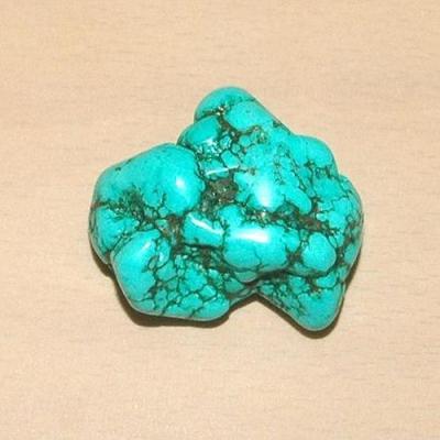 Tqp 009a turquoise brute 47gr 40x40x22mm polie bleue lithotherapie reiki