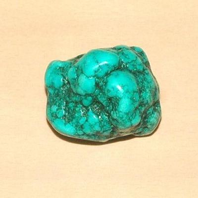 Tqp 010a turquoise brute 87gr 50x40x30mm polie bleue lithotherapie reiki