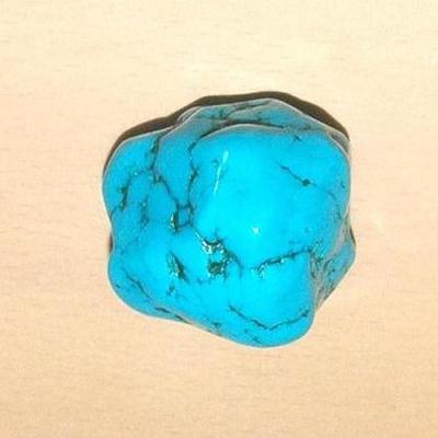 Tqp 014b turquoise brute 70gr 40x35x30mm polie bleue lithotherapie reiki