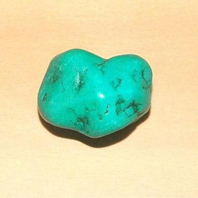 Tqp 015b turquoise brute 65gr 45x35x30mm polie bleue lithotherapie reiki