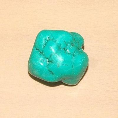 Tqp 016a turquoise brute 53gr 40x35x25mm polie bleue lithotherapie reiki